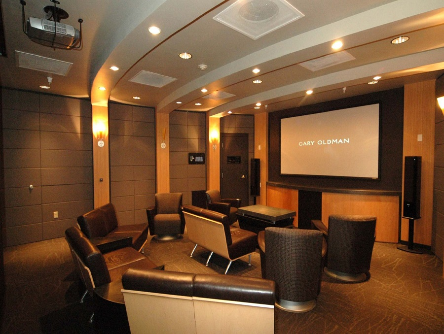 Free home theater system screen saver!